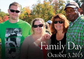 Family pose together for Family Day October 3