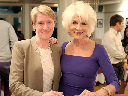 President Mooney with Diane Rehm during the 2017 Fitzwater Honors celebration.