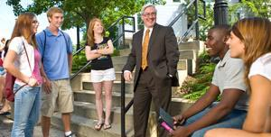 President Birge with students